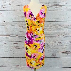 Lauren Ralph Lauren stunning floral sheath dress